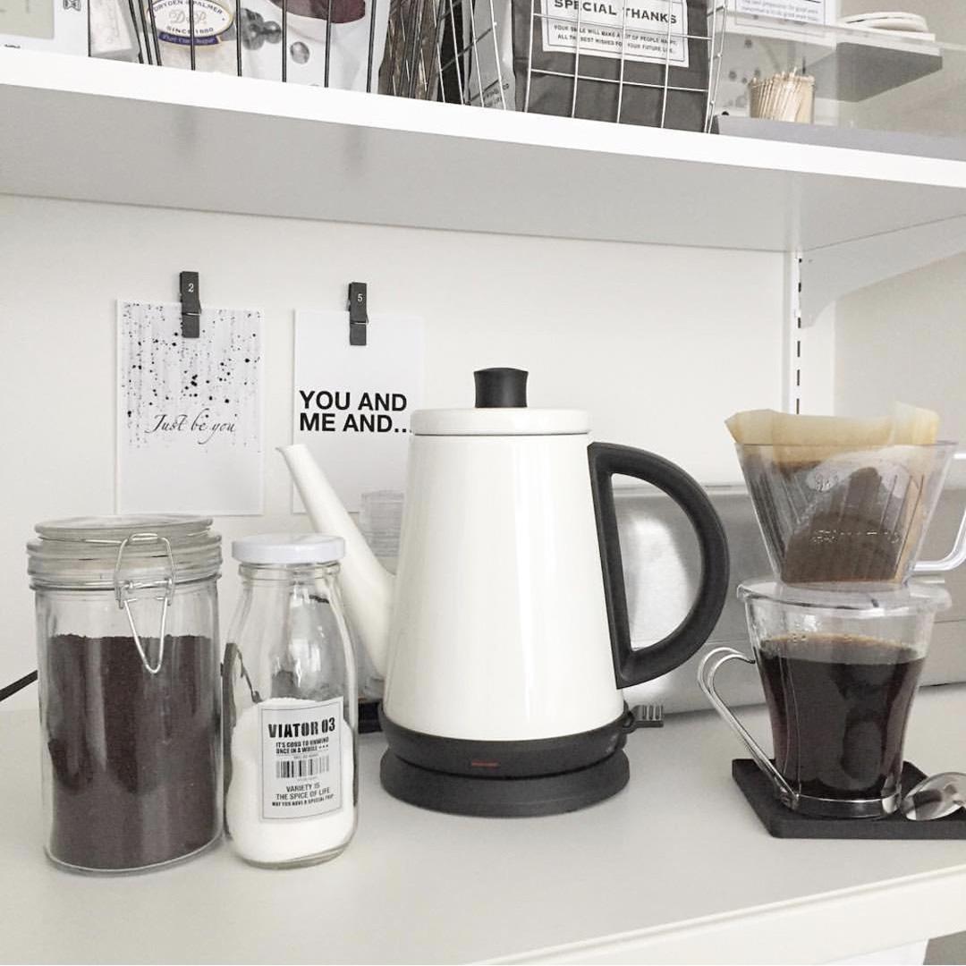 キッチンにあるコーヒー