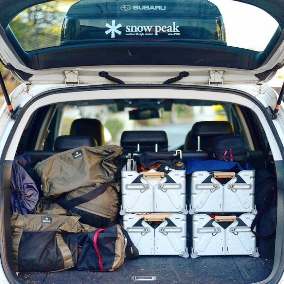 車 キャンプ スノーピーク