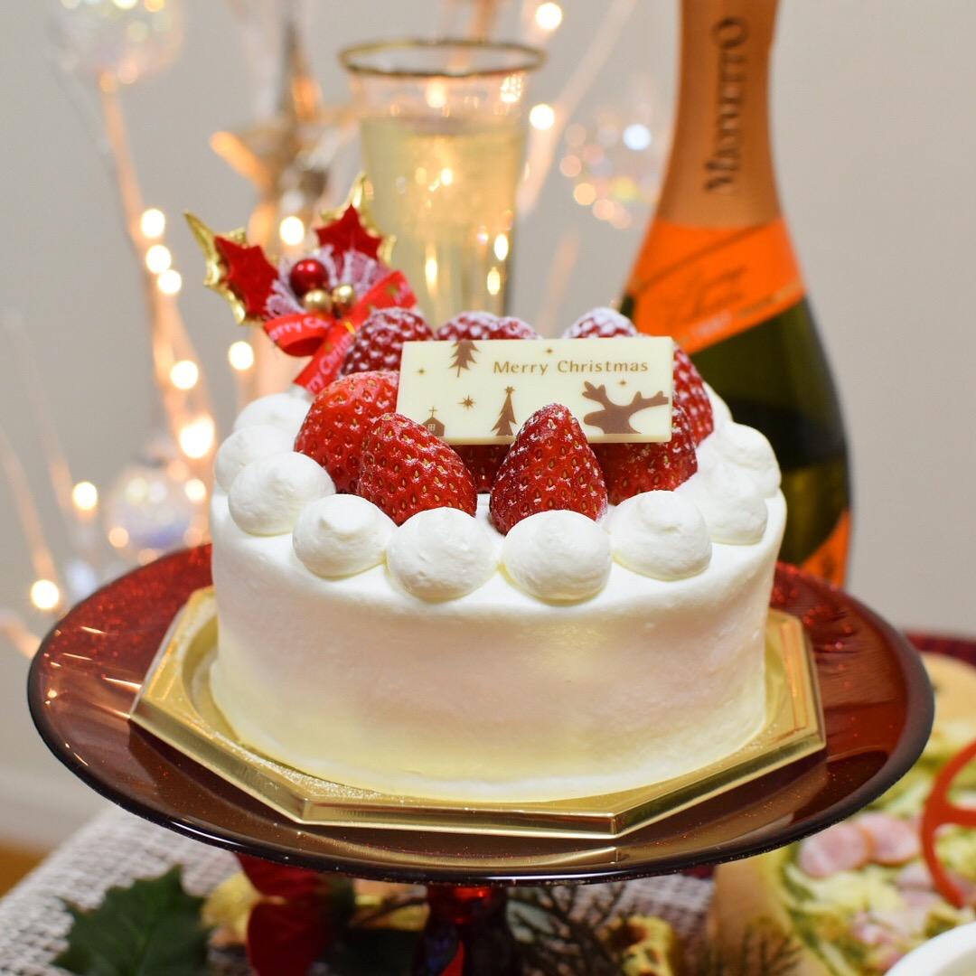 クリスマス ケーキ シャンパン