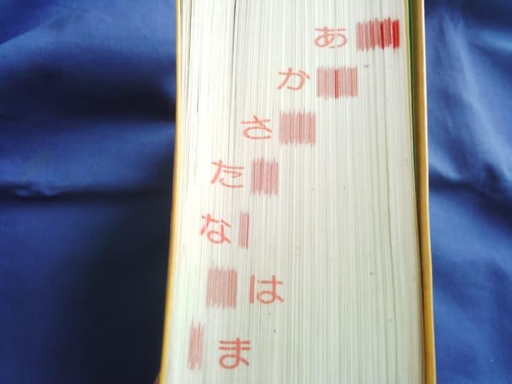 国語辞典「索引」