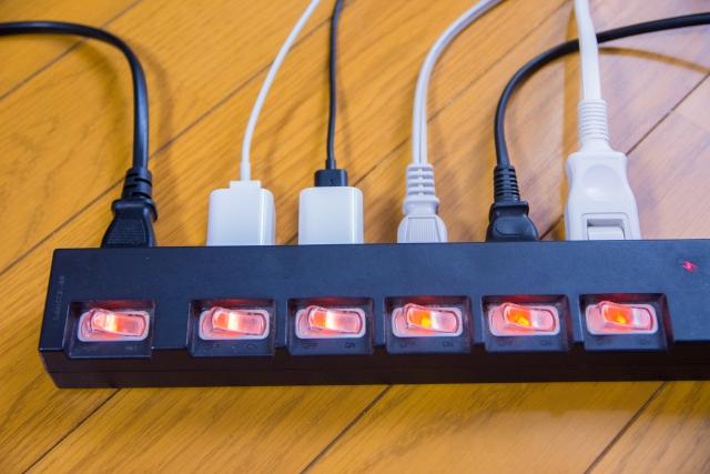 スイッチつき電源タップ