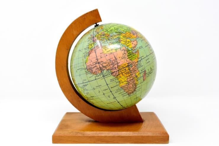 アンティーク地球儀