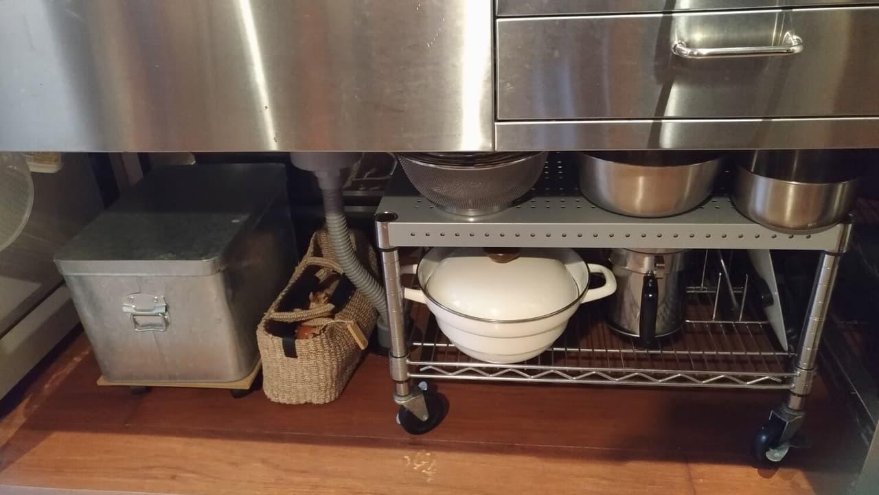 キッチン家電 収納 戸棚
