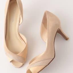 靴 オープントゥ