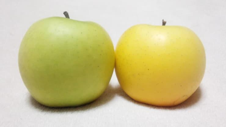 黄色いりんご2種