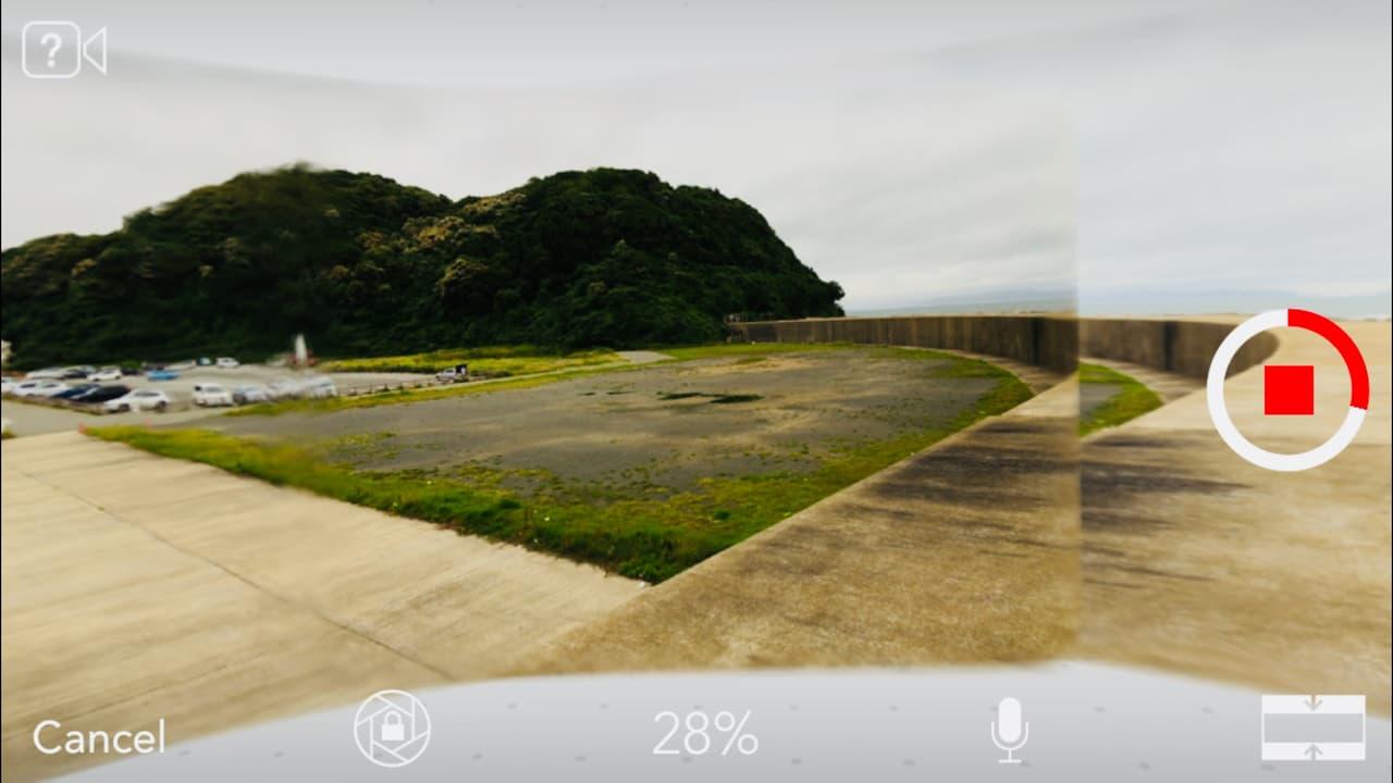 パノラマカメラアプリ