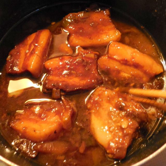 マーマレード入り豚角煮