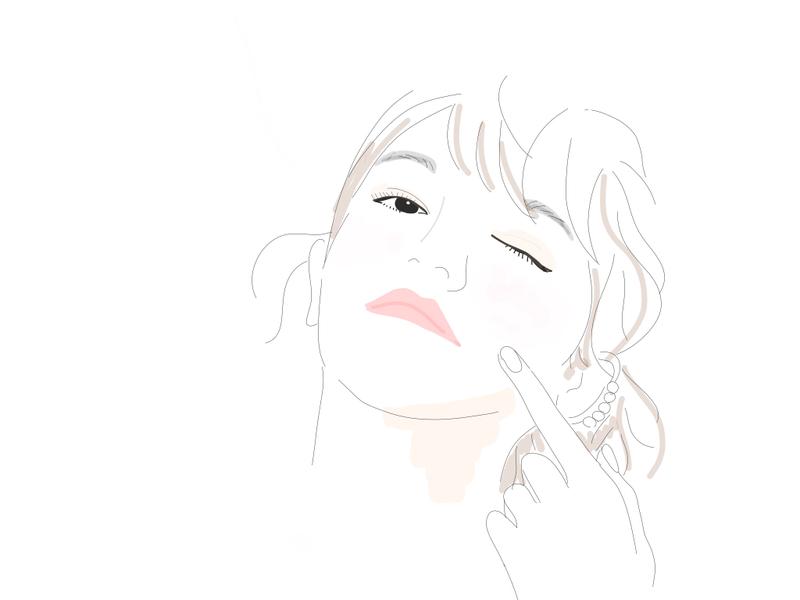 デジタルイラストで描かれた少女