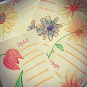 花の絵のポストカード