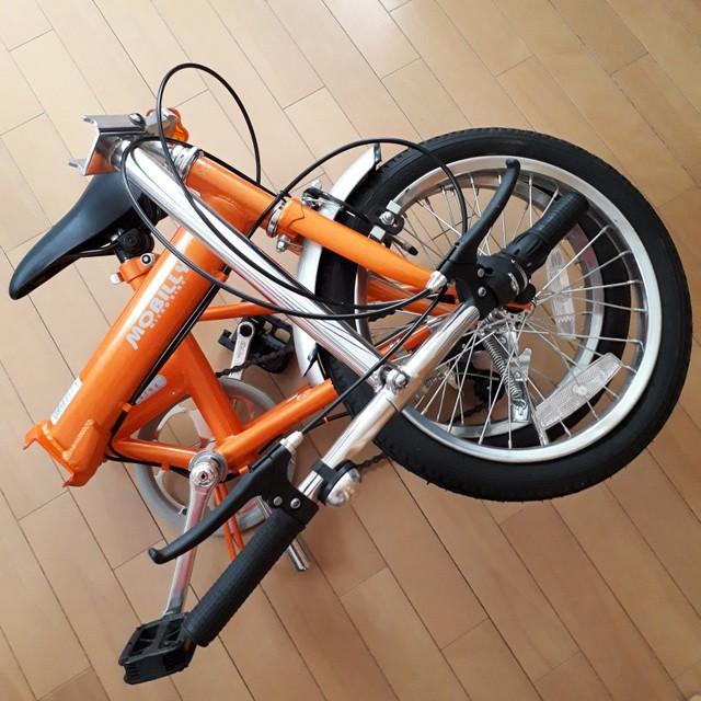 折りたたみ自転車折りたたみ状態