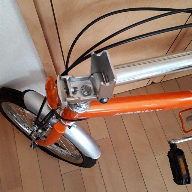 折りたたみ自転車接続部
