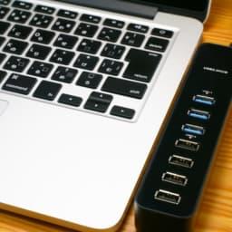USBハブとパソコン