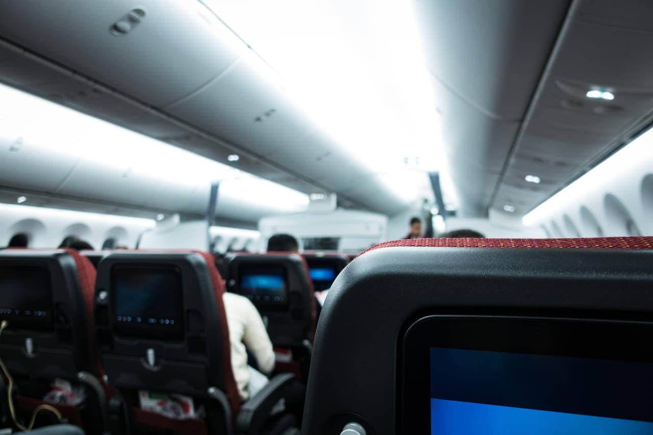 飛行機内 tp
