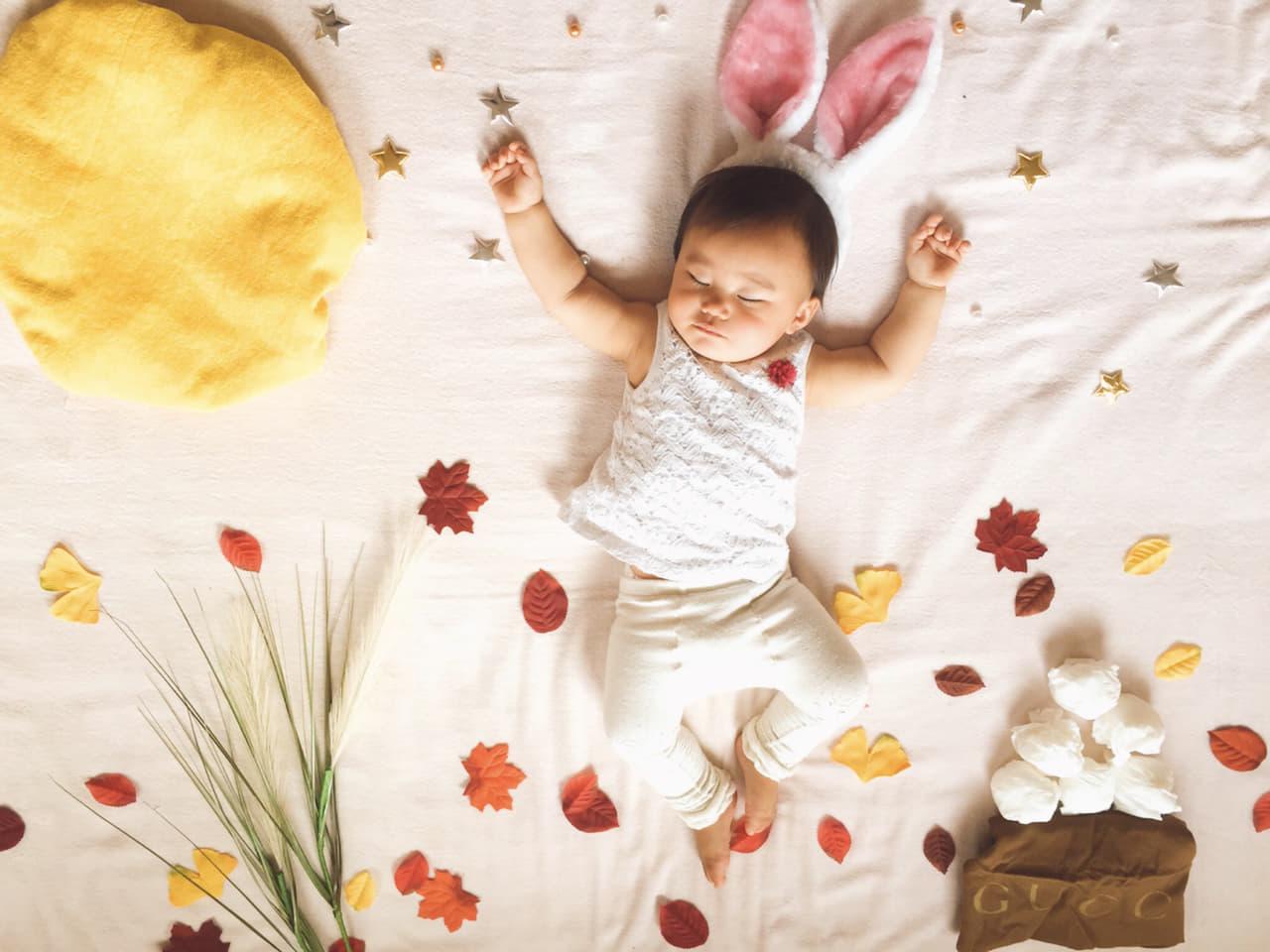 赤ちゃんを寝かしつける