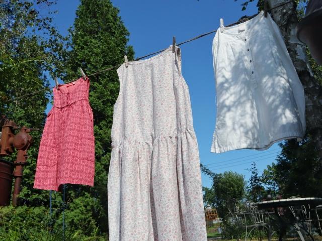 干している洗濯もの