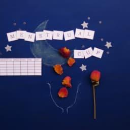 月経カップの文字の画像