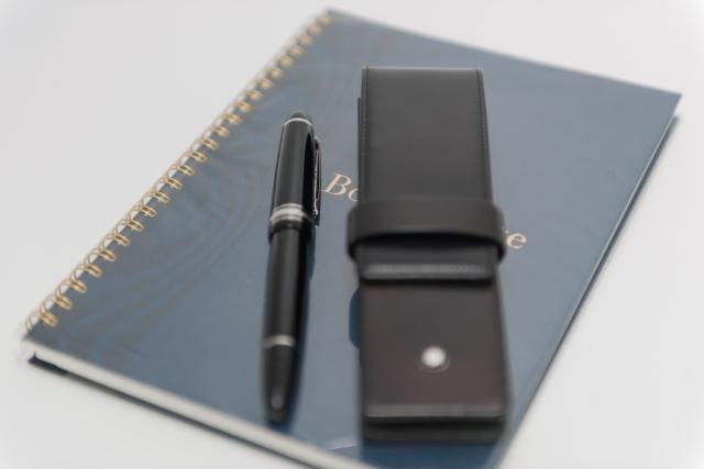 ペンとケースとノート