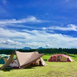 青空と2ルームテント