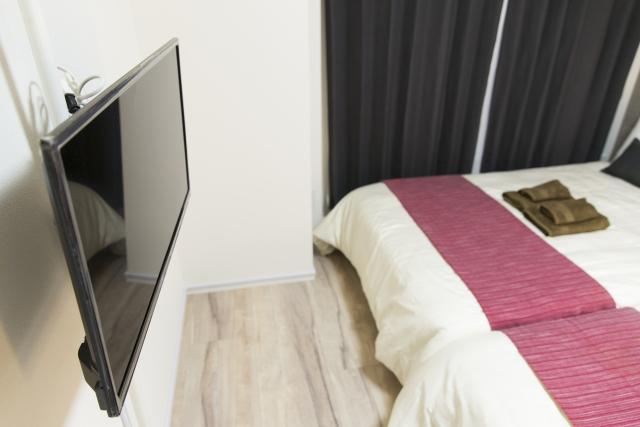 寝室のモニター