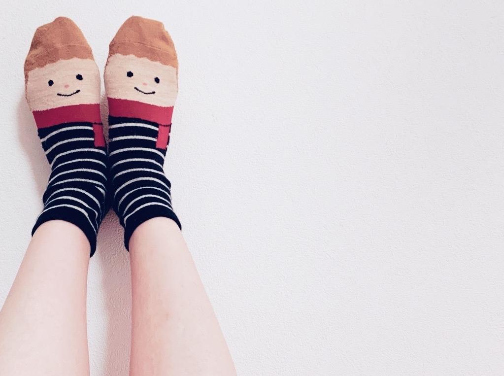 可愛い靴下の画像