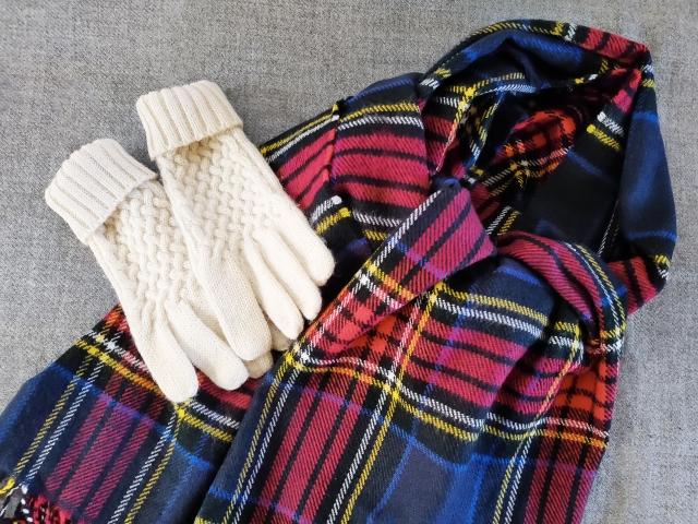 マフラー ストール 手袋