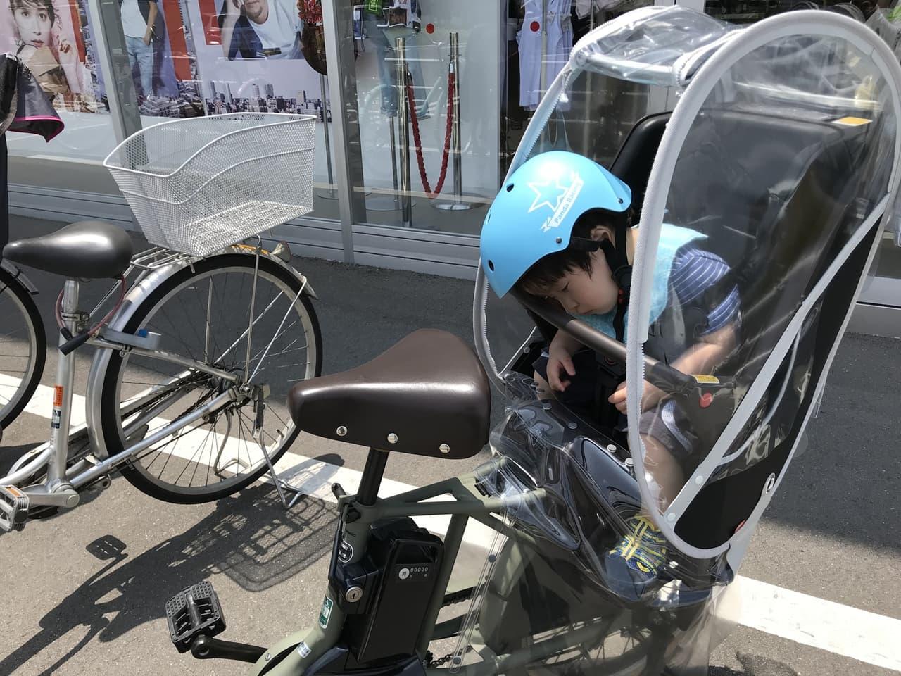 電動自転車 子供 後部座席