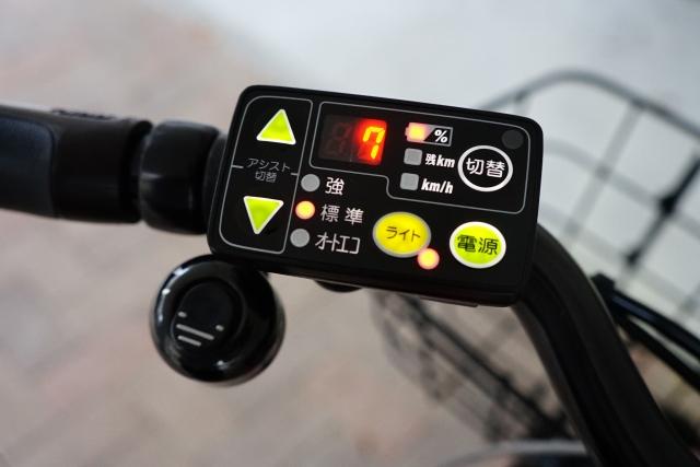 電動自転車のパネル