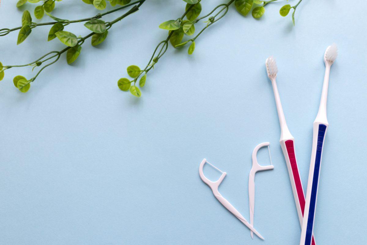 歯間ブラシと歯ブラシ