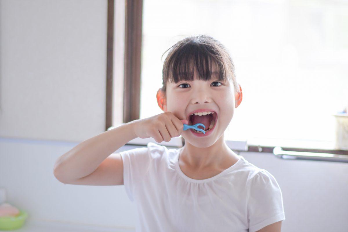歯間ブラシと女の子