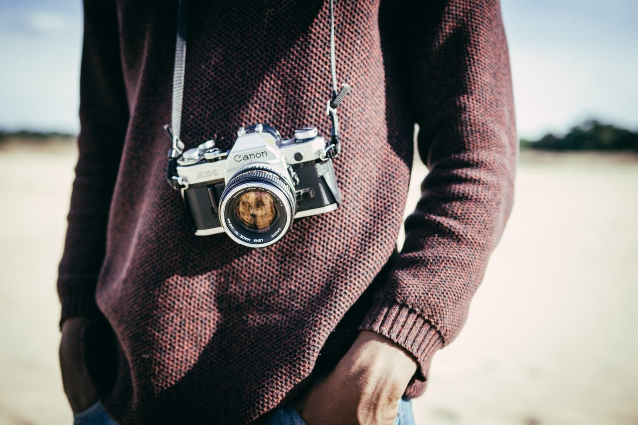 キャノンの一眼レフカメラ