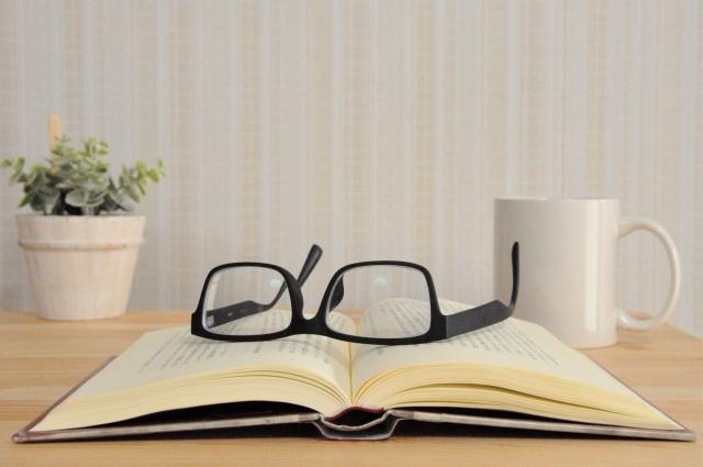 お茶をしながら読書